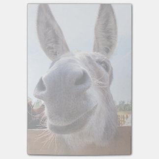 Notas de post-it sonrientes del burro nota post-it®