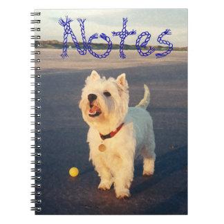 NOTAS de Terrier blanco de montaña del oeste Libros De Apuntes
