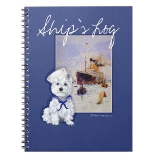 NOTAS de Terrier blanco de montaña del oeste Notebook