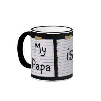 Notas del amor para la papá tazas