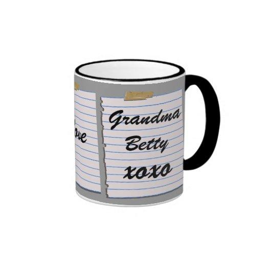 Notas del amor para la taza de la abuela