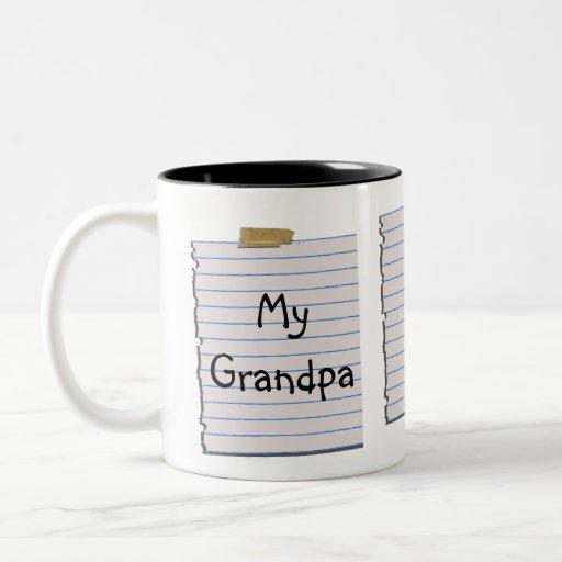 Notas del amor para la taza del abuelo