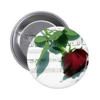Notas del amor pin redondo 5 cm