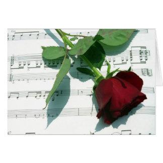 Notas del amor tarjeta de felicitación