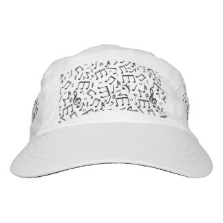 Notas del baile en negro y blanco gorra de alto rendimiento