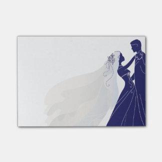 Notas del boda con la novia y el novio 2 - notas post-it nota