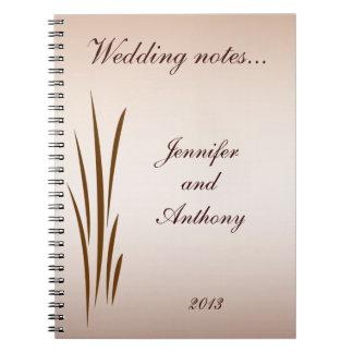 Notas del boda de la cosecha del otoño notebook