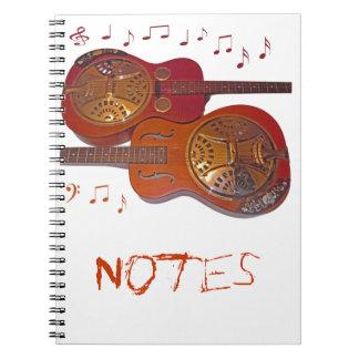 notas del cancionero libro de apuntes