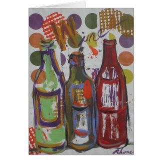 Notas del fiesta del vino tarjeta pequeña