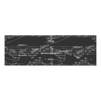 Notas del gris I del vintage del cantante - Tarjetas De Visita Mini