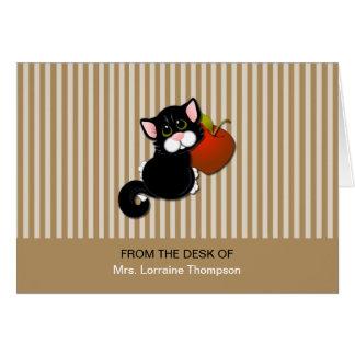 Notas del mascota del profesor tarjeta pequeña