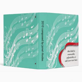 Notas del músico, carpetas del compositor