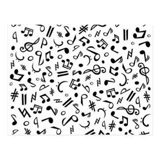 notas del musik postales
