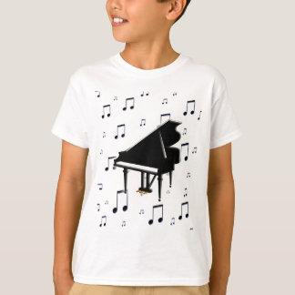 Notas del piano de cola y de la música playera