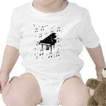 Notas del piano de cola y de la música trajes de bebé