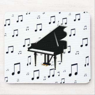 Notas del piano de cola y de la música alfombrilla de raton
