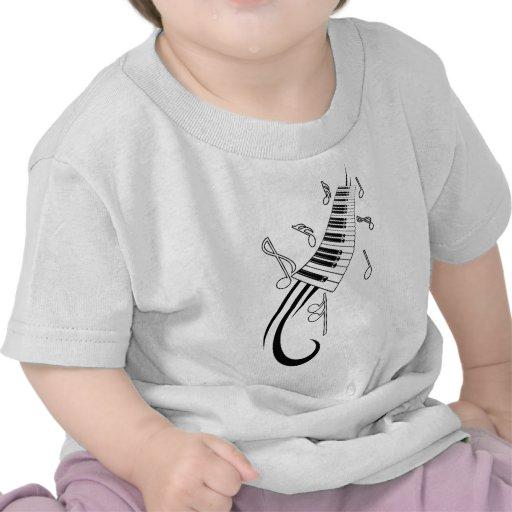 Notas del piano y de la música camisetas