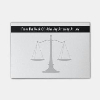 Notas del poste del tema del abogado notas post-it