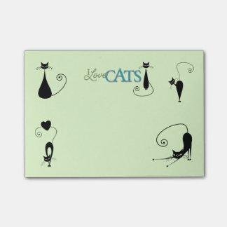 Notas del Poste-it® del amante del gato Post-it Nota