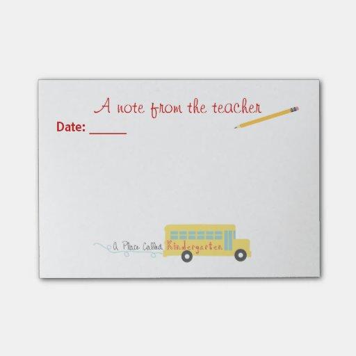 Notas del Poste-it® del maestro de jardín de infan Notas Post-it