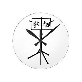 Notas del soporte de música relojes