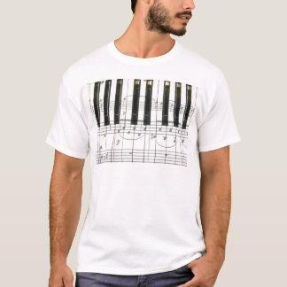 Notas del teclado y de la música de piano playera