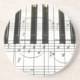Notas del teclado y de la música de piano posavasos personalizados
