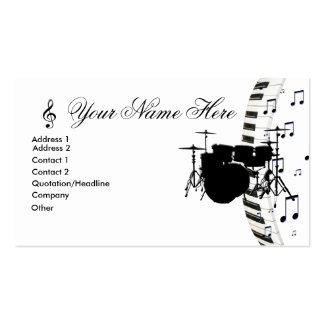 Notas determinadas del teclado y de la música de p plantillas de tarjetas de visita