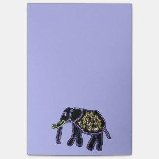 Notas eléctricas del Poste-it® del elefante Nota Post-it®