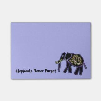 Notas eléctricas del Poste-it® del elefante Post-it® Notas