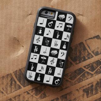 Notas elegantes e instrumentos de la música funda para  iPhone 6 tough xtreme