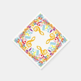 Notas embarulladas circulares coloridas de la servilletas desechables