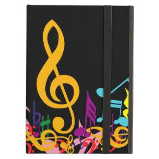 Notas embarulladas coloridas de la música sobre