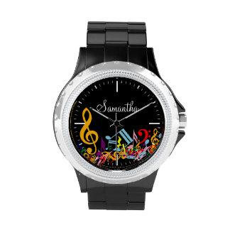 Notas embarulladas coloridas personalizadas de la relojes