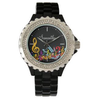 Notas embarulladas coloridas personalizadas de la relojes de pulsera