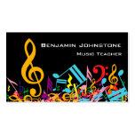 Notas embarulladas coloridas personalizadas de la plantillas de tarjetas personales