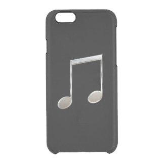 Notas enteras emitidas de plata brillantes de la funda clearly™ deflector para iPhone 6 de uncommon