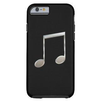 Notas enteras emitidas de plata brillantes de la funda de iPhone 6 tough