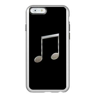 Notas enteras emitidas de plata brillantes de la funda para iPhone 6 plus incipio feather shine