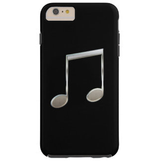 Notas enteras emitidas de plata brillantes de la funda para iPhone 6 plus tough