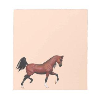 Notas equinas del semental árabe del caballo el tr blocs de notas