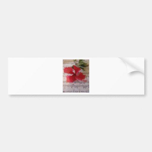 Notas florales pegatina para auto