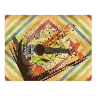 Notas frescas hermosas de la música de la guitarra postal