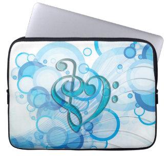 Notas frescas hermosas de la música junto como cor funda ordendadores