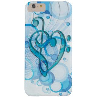 Notas frescas hermosas de la música junto como funda de iPhone 6 plus barely there