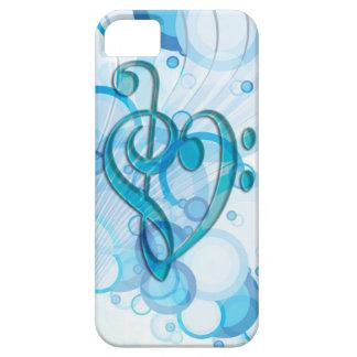 Notas frescas hermosas de la música junto como iPhone 5 funda