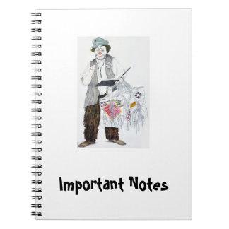 Notas importantes - cuaderno Otto Griebling de la