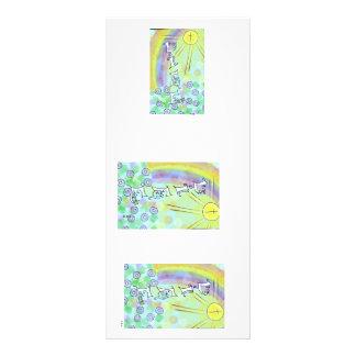 Notas inspiradas tarjeta publicitaria a todo color