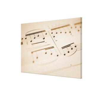 Notas musicales 2 impresión en lona estirada