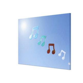 Notas musicales 6 impresión de lienzo